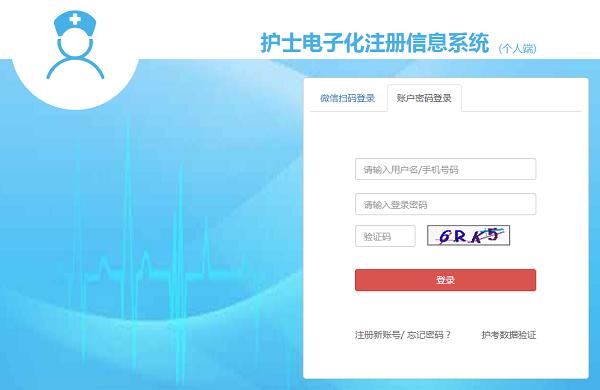 护士电子化注册信息系统入口